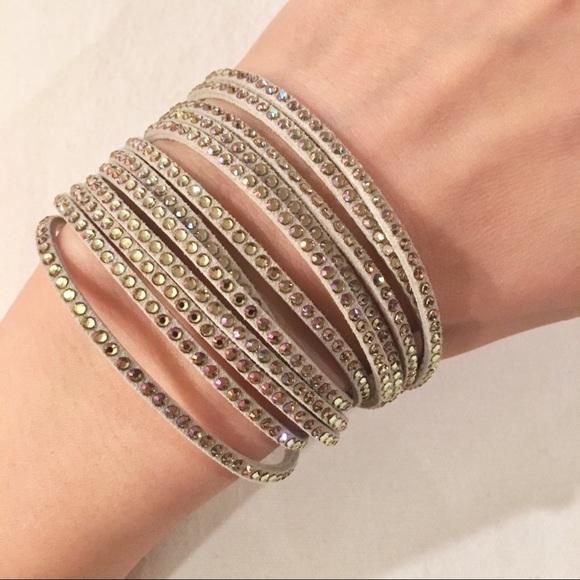 7d23c50d1 Swarovski Jewelry | New Crystal Wrap Bracelet | Poshmark